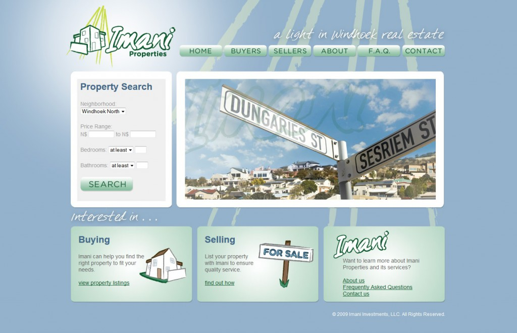 Imani Real Estate Web Site Design